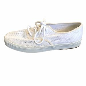 Keds white mesh lace up canvas sneakers 8.5
